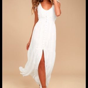 Time Well Spent White Embroidered Maxi Dress